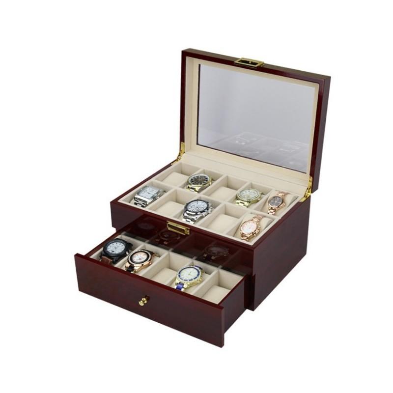 Cutie depozitare 20 ceasuri de mana din LEMN