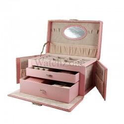 Caseta Bijuterii Imprimeu Sarpe EMILY Roz WZ1556