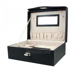 Caseta pastrare si transport bijuterii piele ecologica Lorenna WZ1656