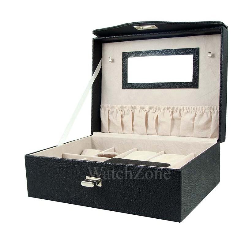 Caseta pastrare si transport bijuterii piele ecologica Lorenna WZ1656 imagine techstar.ro 2021