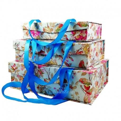 Set De 3 Cutii pentru Depozitarea Bijuteriilor FLORA WZ795
