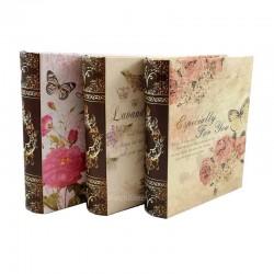 Set De 3 Cutii pentru Depozitarea Bijuteriilor BOOK WZ794