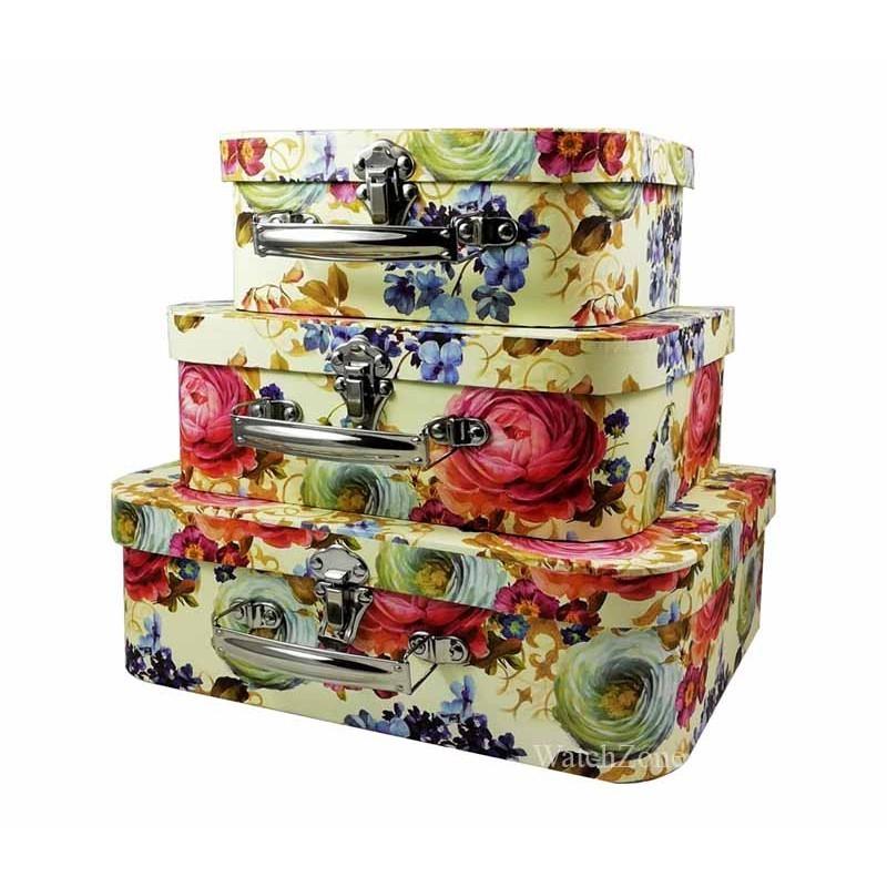 Casete Bijuterii cu Motive Florale Set 3 Bucati WZ369 imagine techstar.ro 2021