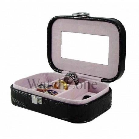 Caseta bijuterii piele ecologica BABY DENISE rosie / neagra CF-PU030