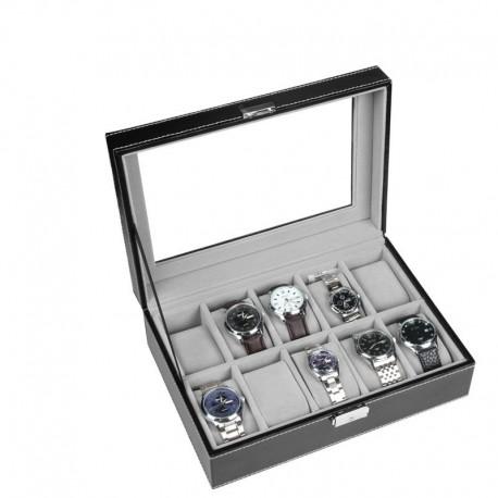 Cutie depozitarea 10 ceasuri piele eco PREMIUM