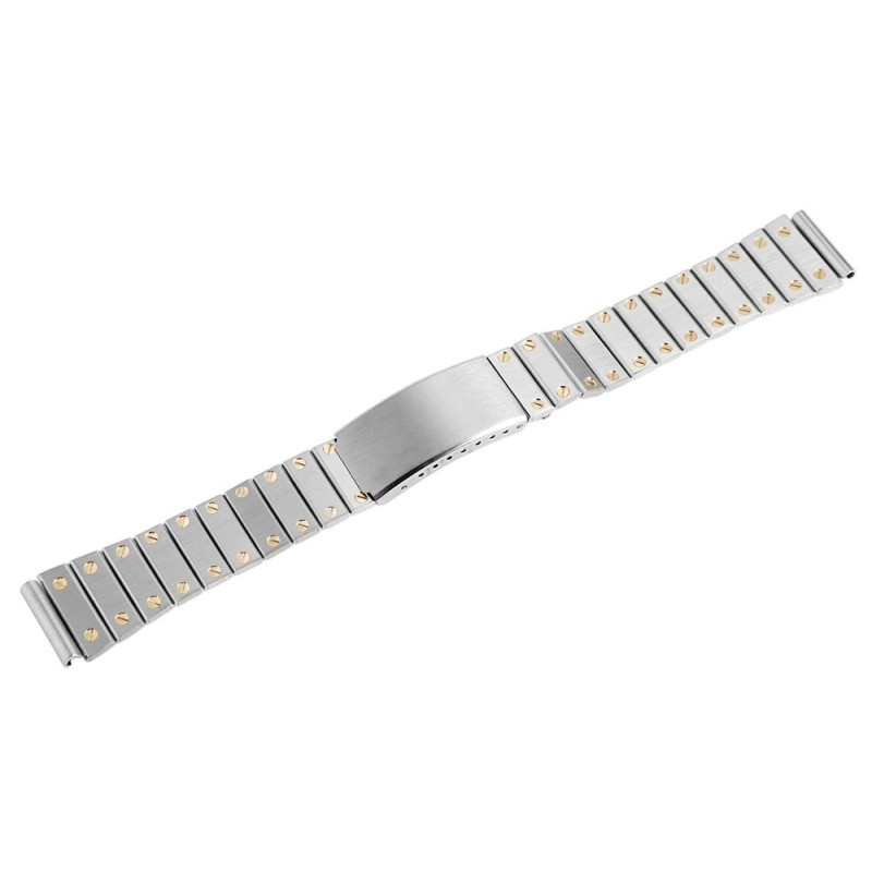 Bratara Ceas Otel Inoxidabil Argintiu Insertii Aurii 18mm 70010026