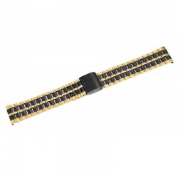 Bratara Ceas Otel Inoxidabil Bicolor Negru - Auriu 18mm 70010023