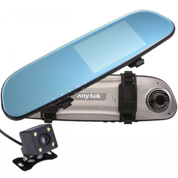 Camera Auto Oglinda iUni Dash 77G, Dual Cam, Touchscreen, Display 4.5 inch, Full HD, Night Vision, WDR, 170 grade, by Anytek