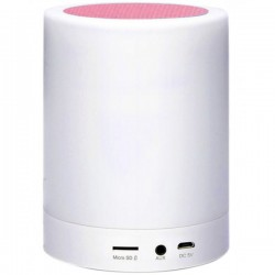 Boxa Portabila cu Lampa Bluetooth iUni M16, 3W, USB, TF CARD, AUX-IN, Led Multicolor, Pink