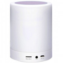 Boxa Portabila cu Lampa Bluetooth iUni M16, 3W, USB, TF CARD, AUX-IN, Led Multicolor, Silver