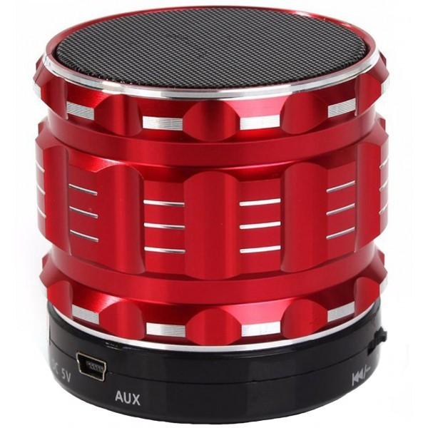 Boxa Portabila Bluetooth iUni DF12, 3W, USB, Slot Card, AUX-IN, Aluminiu, Rosu