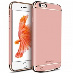 Husa Baterie Ultraslim iPhone 6/6s, iUni Joyroom 2500mAh, Rose Gold