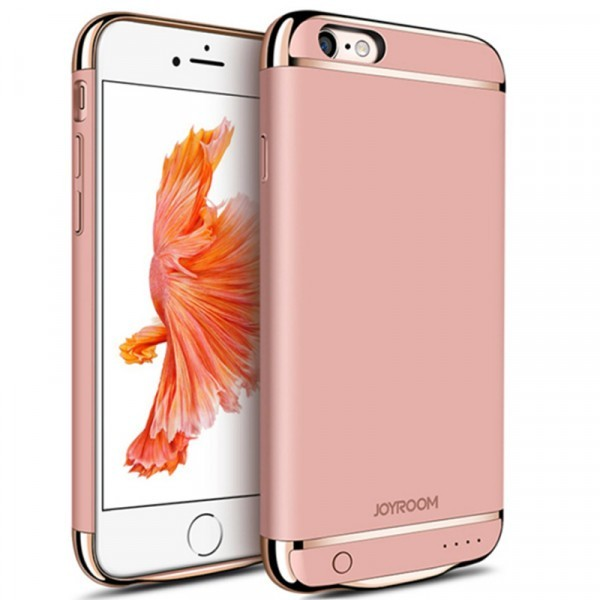Husa Baterie Ultraslim iPhone 6 Plus/6s Plus, iUni Joyroom 3500mAh, Rose Gold