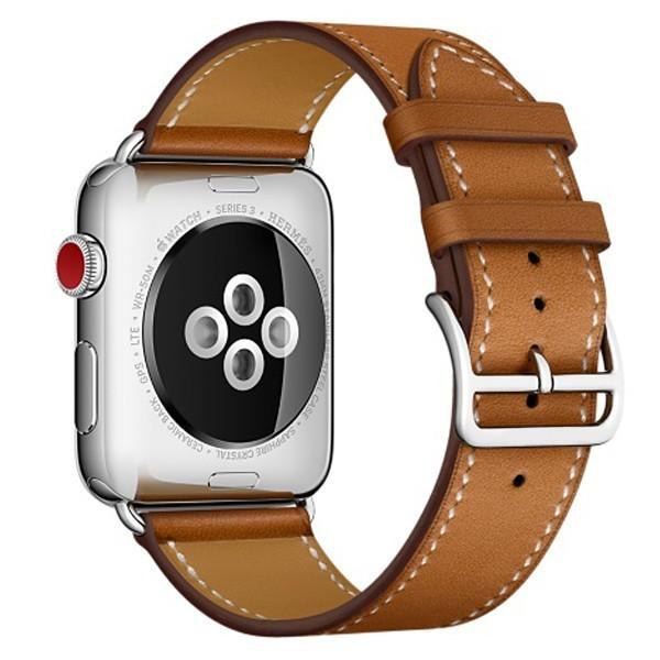 Curea pentru Apple Watch 42 mm piele iUni Single Tour Maro