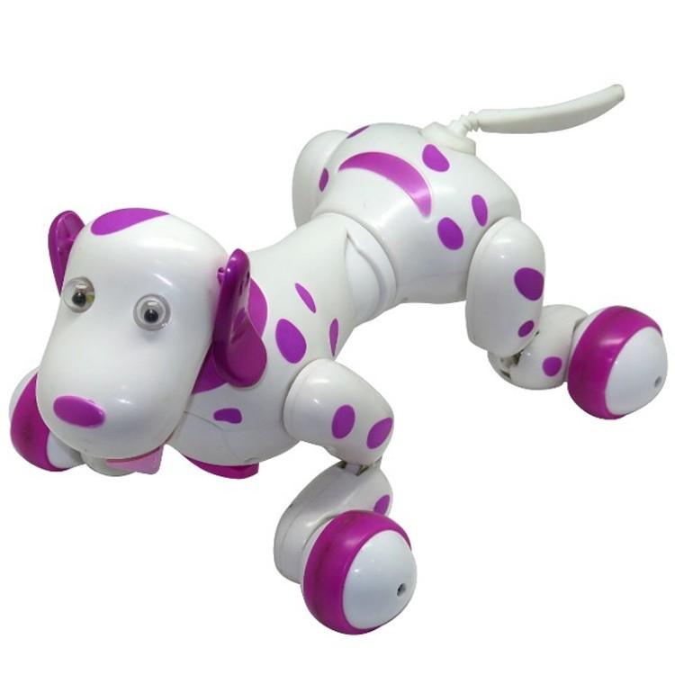 Robot Catel interactiv iUni Smart-Dog, 24 comenzi, Alb-Roz imagine techstar.ro 2021
