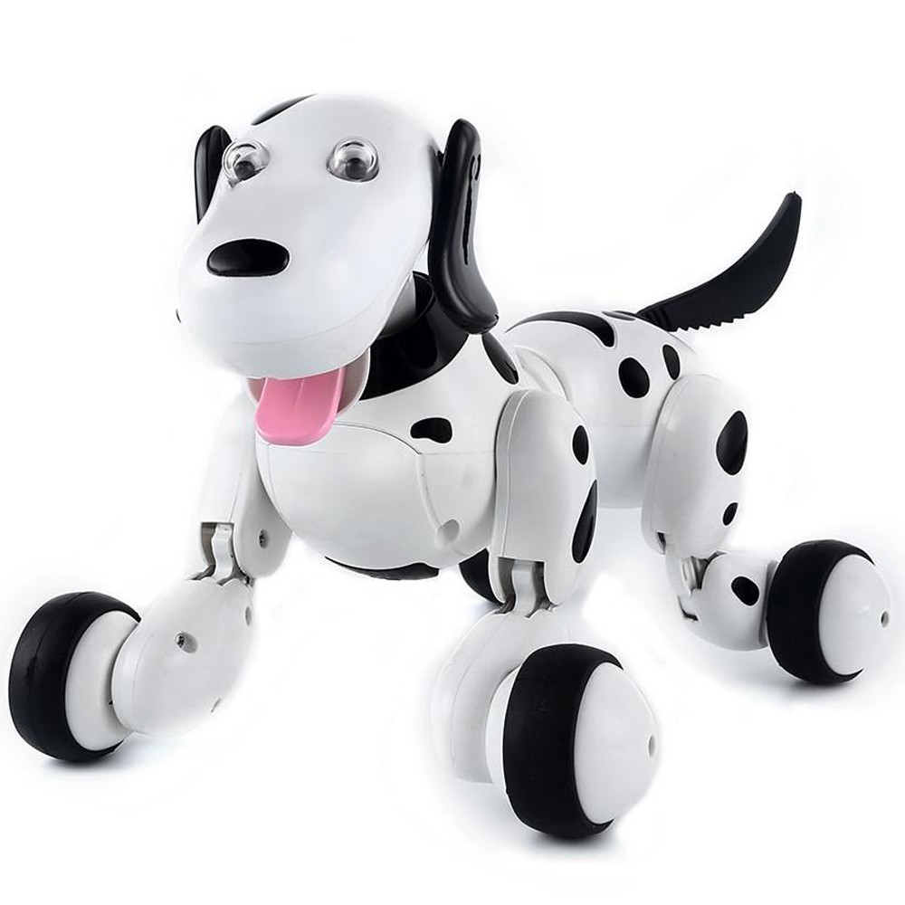 Robot Catel interactiv iUni Smart-Dog, 24 comenzi, Alb-Negru imagine techstar.ro 2021