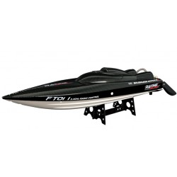 Barca cu telecomanda iUni FT011 High Speed Racing Flipped Boat, Negru