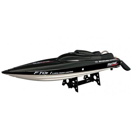 Barca cu telecomanda iUni FT011 High Speed Racing Flipped Boat, Negru