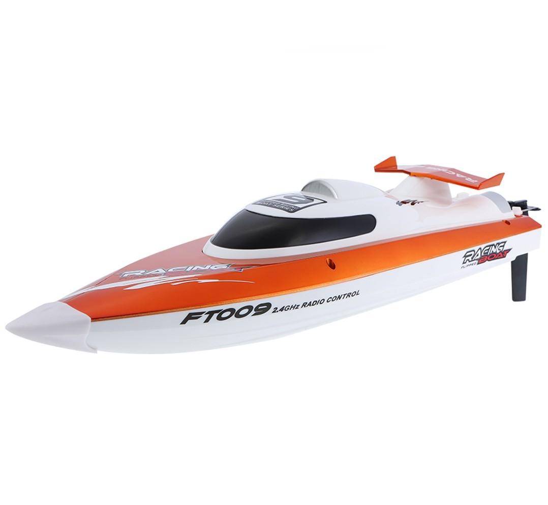 Barca cu telecomanda iUni FT009 Top Speed Racing Flipped Boat, Portocaliu