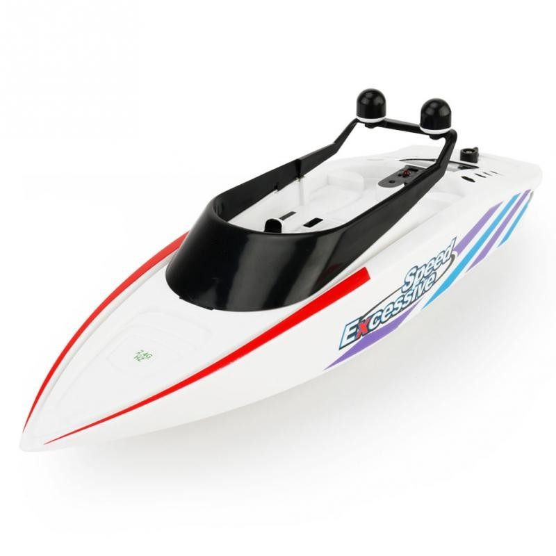 Barca cu telecomanda iUni RC Racing Boat Waterproof, Frecventa 2.4G, Alb imagine techstar.ro 2021
