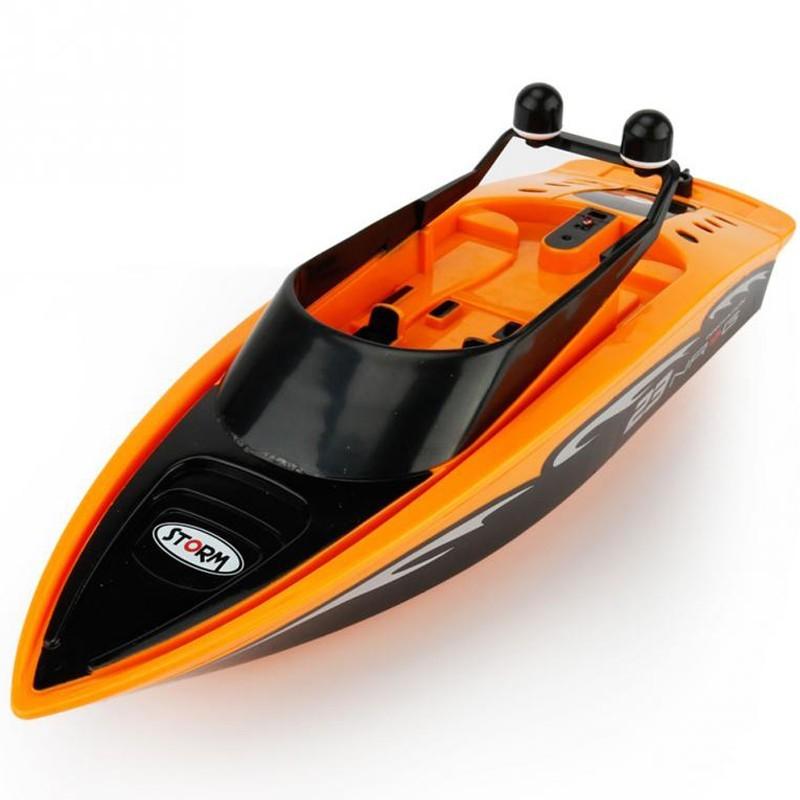 Barca cu telecomanda iUni RC Racing Boat Waterproof, Frecventa 2.4G, Portocaliu imagine techstar.ro 2021