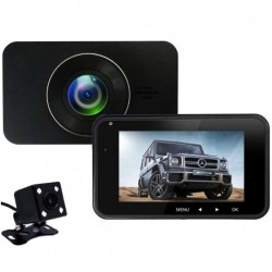 Camera Auto Dubla iUni Dash 270, Full HD, Senzor G, LCD 4.0 Inch, Detectare miscare, Night vision