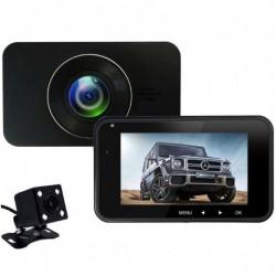 Camera Auto Dubla iUni Dash 270, Full HD, Senzor G, LCD 4.0 Inch, Detectare miscare, Night vision