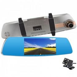 Camera Auto Oglinda iUni Dash 830, Dual Cam, Touchscreen 5 inch, Full HD, Night Vision, G Senzor