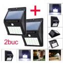 Set 2 bucati Lampa cu LED Incarcare Solara si Senzori