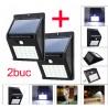 Set Promo 2 X Lampa cu LED cu Incarcare Solara si Senzori de Miscare