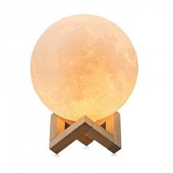 Lampa LED forma de luna plina 2 culori alb si rece Reglabila