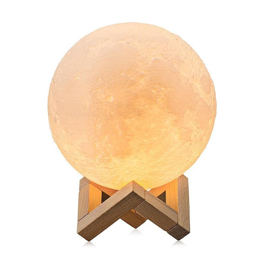 Lampa LED forma de luna plina 8cm Diametru 2 culori alb si rece Reglabila imagine techstar.ro 2021