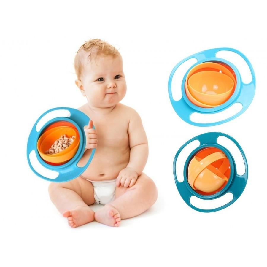 Bol rotativ care nu se rastoarna pentru hranire copii Gyro Bowl imagine techstar.ro 2021