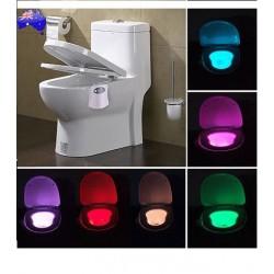 Lampa cu LED si lumina multicolora ideala pentru iluminatul WC-ului pe timp de noapte