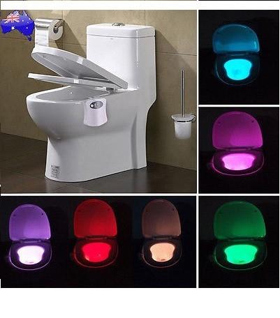 Lampa cu LED si lumina multicolora ideala pentru iluminatul WC-ului pe timp de noapte imagine techstar.ro 2021
