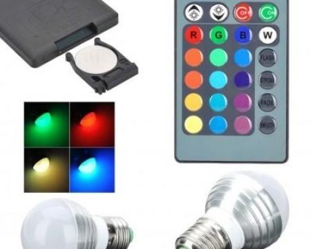 O idee speciala pentru decorare! Bec multicolor (RGB) cu telecomanda imagine techstar.ro 2021