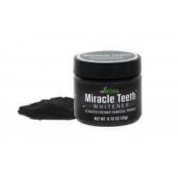 Pudra pentru albirea dintilor din carbune activ cu cocos Miracle Teeth