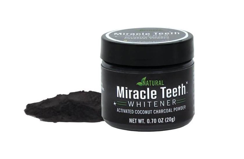 Pudra pentru albirea dintilor din carbune activ cu cocos Miracle Teeth imagine techstar.ro 2021