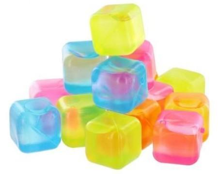 Set 24 cuburi colorate de gheata reutilizabile poza 2021