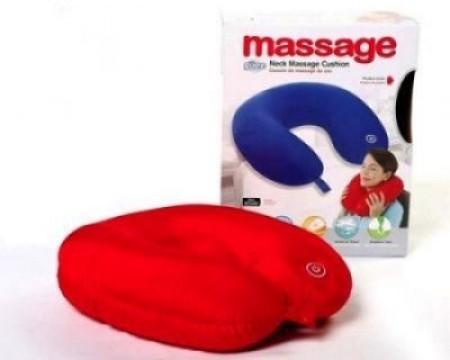 Relaxeaza-te dupa o zi grea: Perna de masaj cu vibratii pentru gat si umeri! imagine techstar.ro 2021