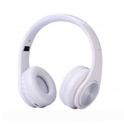 Casti Bluetooth Wireless W802 ALB Over Ear Pliabile Sport cu microfon incorporat