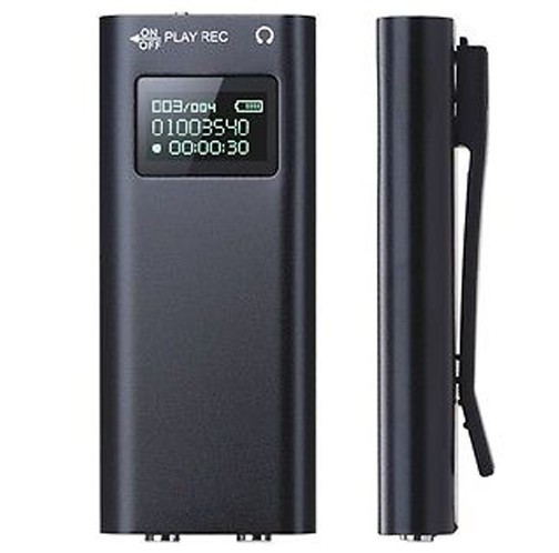 Mini Reportofon Profesional iUni SpyMic REP05, Memorie 8GB, MP3 Player