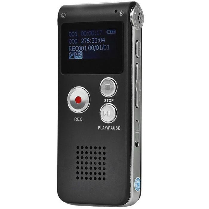 Mini Reportofon Profesional iUni SpyMic REP03, Memorie 8GB, MP3 Player