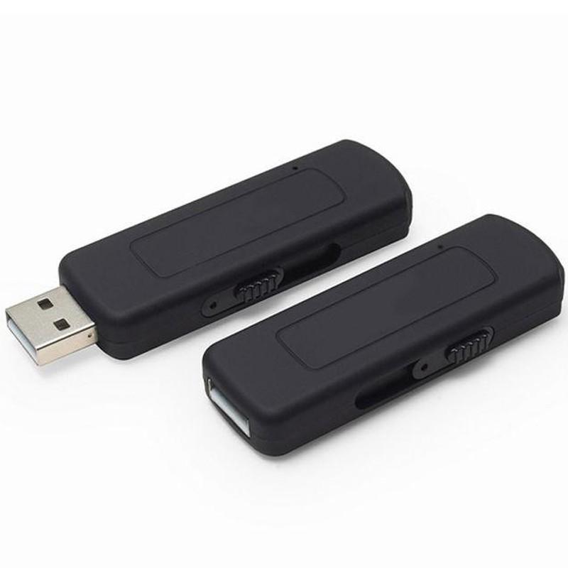 Stick USB Spion Reportofon iUni SpyMic STK97, Memorie interna 8GB, Negru