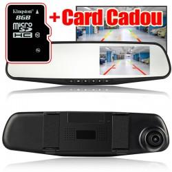 Oglinda L9000 cu Camera Dubla FullHD Incorporata + Card 8GB MicroSD Cadou