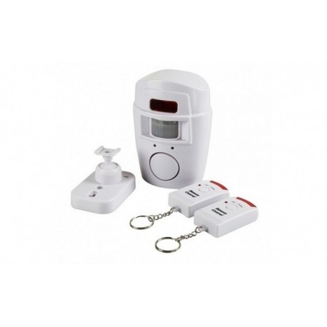 Alarma wireless cu 2 Telecomenzi + senzor miscare