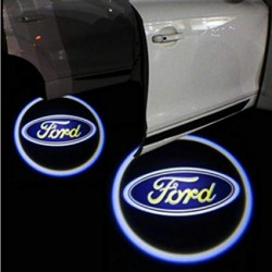 Set 2 Bucati Emblema Logo LED Portiera dedicata Marca Auto FORD