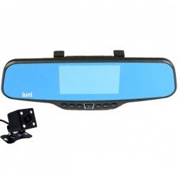 Camera Auto iUni Dash 811 Oglinda, Dual Cam, Full HD, Night Vision, Foto, Playback, Senzor G