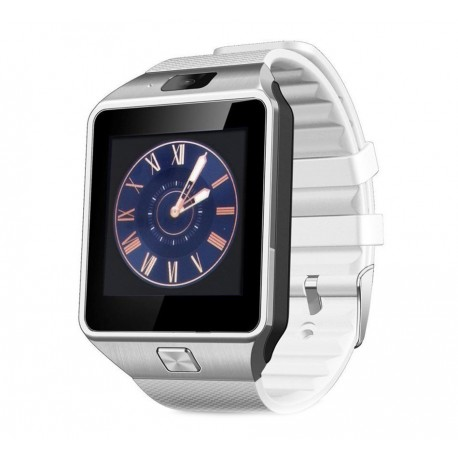 Smartwatch Bluetooth DZ09 MTK Compatibil SIM si MicroSD cu Camera Alb