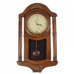Ceas perete cu pendula din lemn Circle Moon TX-2500
